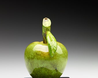 Green Wooden Apple