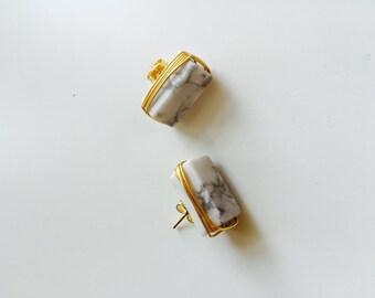Marble handmade earring