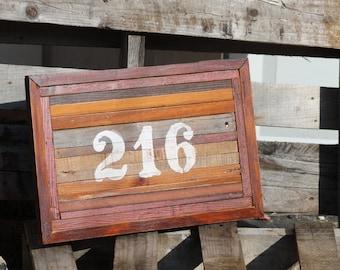 216 Pallet Wood Decor - Cleveland Ohio - Pallet Art - 216