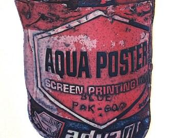 Aqua Poster Viscosity Print