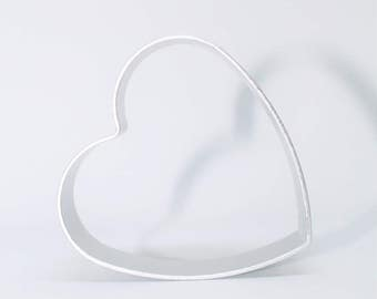 Heart shape Cookie Cutter, Needle Felting in Cookie Cutters, Needle felting With cookie Cutter as Shape Mold, suitable for cookies making.