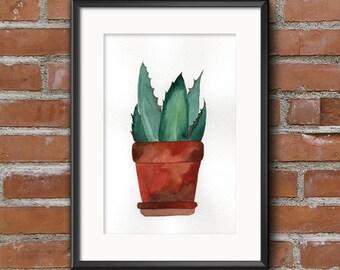 Pot plant 02, Roślinka w doniczce 02 - 12,5x18cm