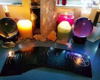 Darkladys 4 card spread tarot card reading..through email as a PDF file