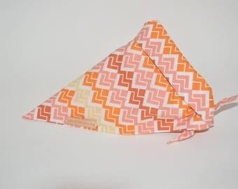Orange Patterned Tie on Bandana