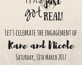 Engagement Party Invitation. Digital Printable Download.