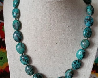 Turquoise chain necklace clasps HalsketteEchtsilber