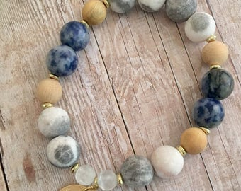 Forever Blue Diffuser Bracelet; Aromatherapy; Essential oils