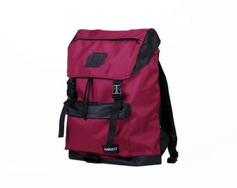 Waterproof Backpack,Roll Top Backpack,Vintage Backpack,Waxed Canvas Backpack,Canvas Rucksack,Men's Backpack, Travel Backpack,Vinous Backpack