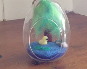 Duckling in glass egg