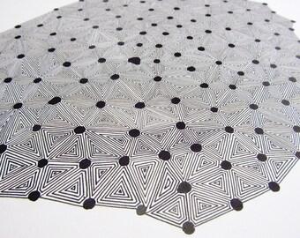 Print a drawing motif maze