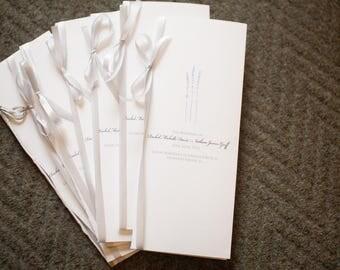 Lavender Wedding Program - Digital Download Wedding Program, Customized Program, Printable Program, Folded Wedding Program