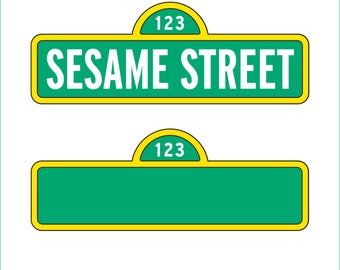 Sesame Street Sign and Blank Sign only - svg, dxf, eps, png, Pdf  - Cricut Explorer - Silhouette Cameo-