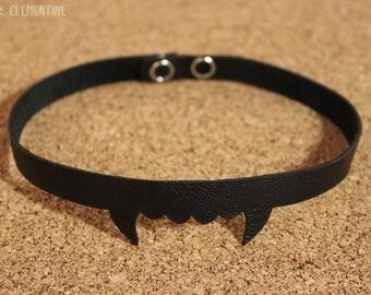 vampire choker halloween dark genuine leather