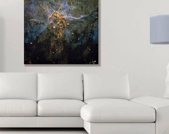 """Modern Tapestry Galaxy Nebulae  -  """"The sky in a room"""" collection - woven image"""