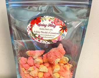 Spring Fling bubbly bath salts