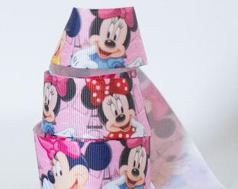 """Minnie Mouse 1"""" Grosgrain Ribbon 723"""