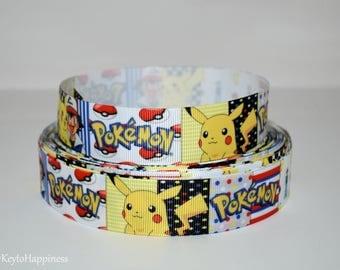 "Pokemon 7/8"" Grosgrain Ribbon 785 By the Yard"