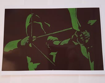 Green Arrow A4 Print