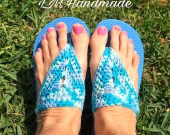 Baby Blue Flip Flops