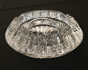 Crystal Ashtray or candle holder vintage 1950 to 1960