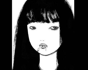 Sérigraphie【Eat a girl 】 limit 20 illustration (silkscreen)