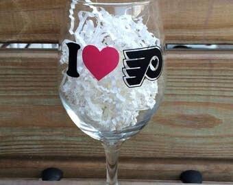 Philadelphia Flyers Wine Glass, Wine, Flyers, Hockey, NHL