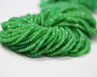 AAA Quality CHRYSOPRASE Faceted Beads / 3-4 mm / 13.5 inch