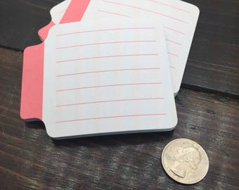 Red Lined Post It Notes , Planning Accessories