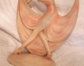 Deco chalk ware figurine