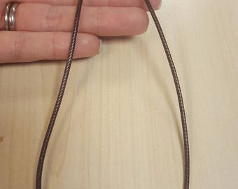 1pc Dark Brown PU Leather Cord Necklace