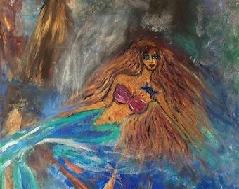 Mermaid's Song Original Painting By Anahita Modarresi
