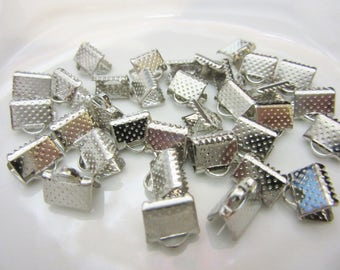 Connector Ribbon, wire, organza, silver, Dull Silver, 8mm, metal, billesetplus