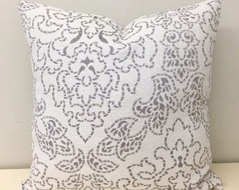 Cream Cotton Linen Pillow Cover, Cream Cotton Linen Blend Fabric, Boho Decorative Throw Pillow, Cream Couch Sofa Pillow Cushion Case Covers