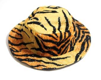 Vintage Zebra Print Bucket Hat