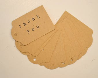 Stamped Gift Tags - 'Thank You' Set of 10