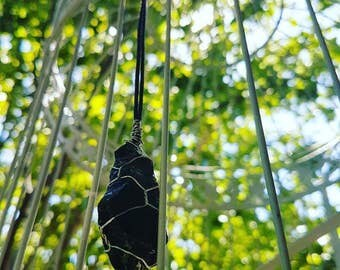Black obsidian necklace