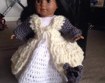 Winter dress wool for doll and Don hook