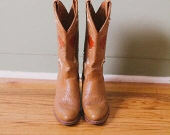 Vintage Women's Cowboy Boots Size 6