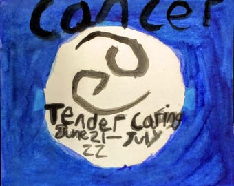 Cancer Zodiac Painting