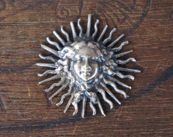 Vintage French Brass Stamping/Antique Style/Louis XIV/Sun King/Versailles/French Findings