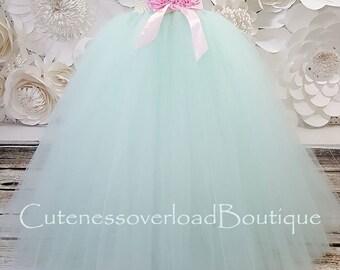 40% OFF ALL ORDERS-Mint Flower Girl Tutu Dress-Mint Tutu Dress-Mint Girl Tutu-Mint Girl Tutu-Mint Wedding Tutu.Mint Wedding Tutu. Mint dress