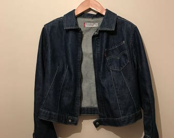 Women's Vintage Levi's Cropped Denim Jean Jacket