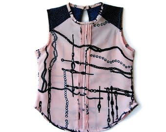 Blouse girl chains / Rayon