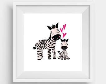 Zebra Baby and Papa
