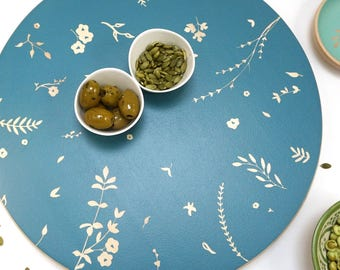 Hand Painted Wooden Lazy Susan