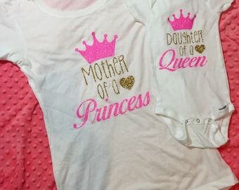 daughter of a queen, mommy and me outfits, matching mommy daughter, mommy and me shirts, mommy and me clothing, mothers day gift, mom life