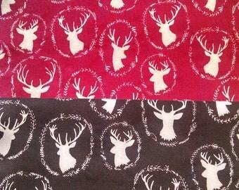 Deer Print /Solid Color Reversible Welding Cap