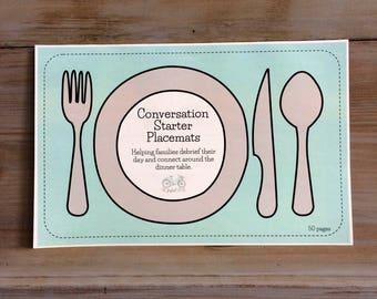 Conversation Starter Placemat | Kitchen Supplies | Famly Dinner