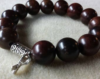 Mens wood Bead Bracelet