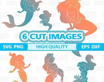 Mermaid Silhouette Clipart, Mermaid Vector, Mermaid Silhouette Svg, Mermaid Svg Cricut, Mermaid Svg File, Mermaid Decal, Cuttable Svg. Png